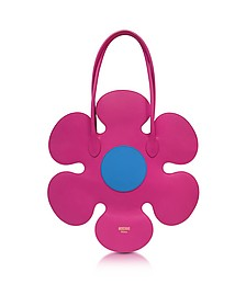 Pink Leather Flower Bag - Moschino