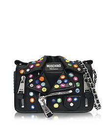 Black Biker Jacket Shoulder Bag - Moschino