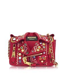 Red Biker Jacket Shoulder Bag - Moschino