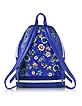 Blue & White Leather Jacket Backpack - Moschino