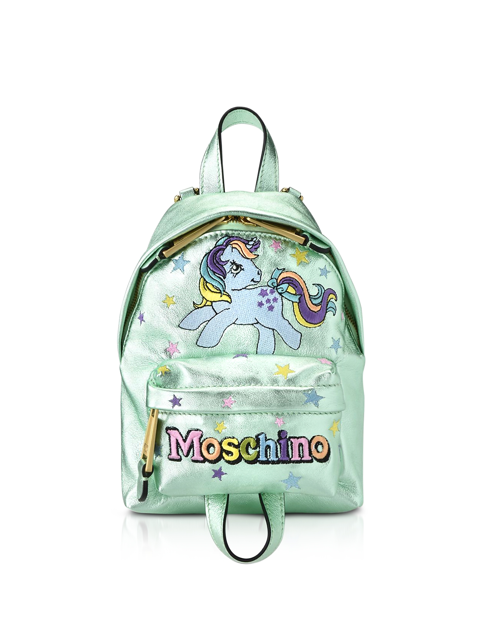 Moschino My Little Pony Laminated Leather Backpack