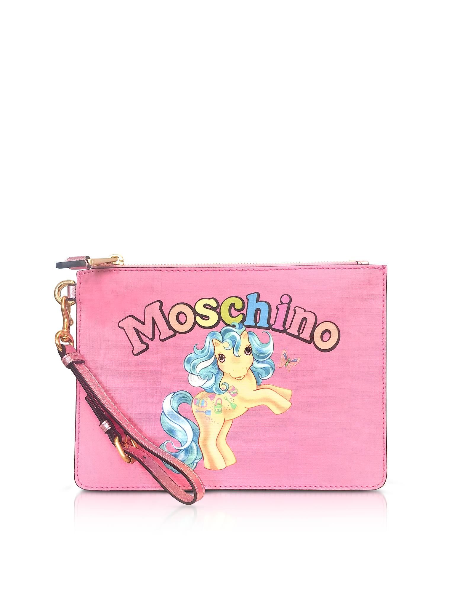 Moschino My Little Pony Pink Clutch w/Wristlet
