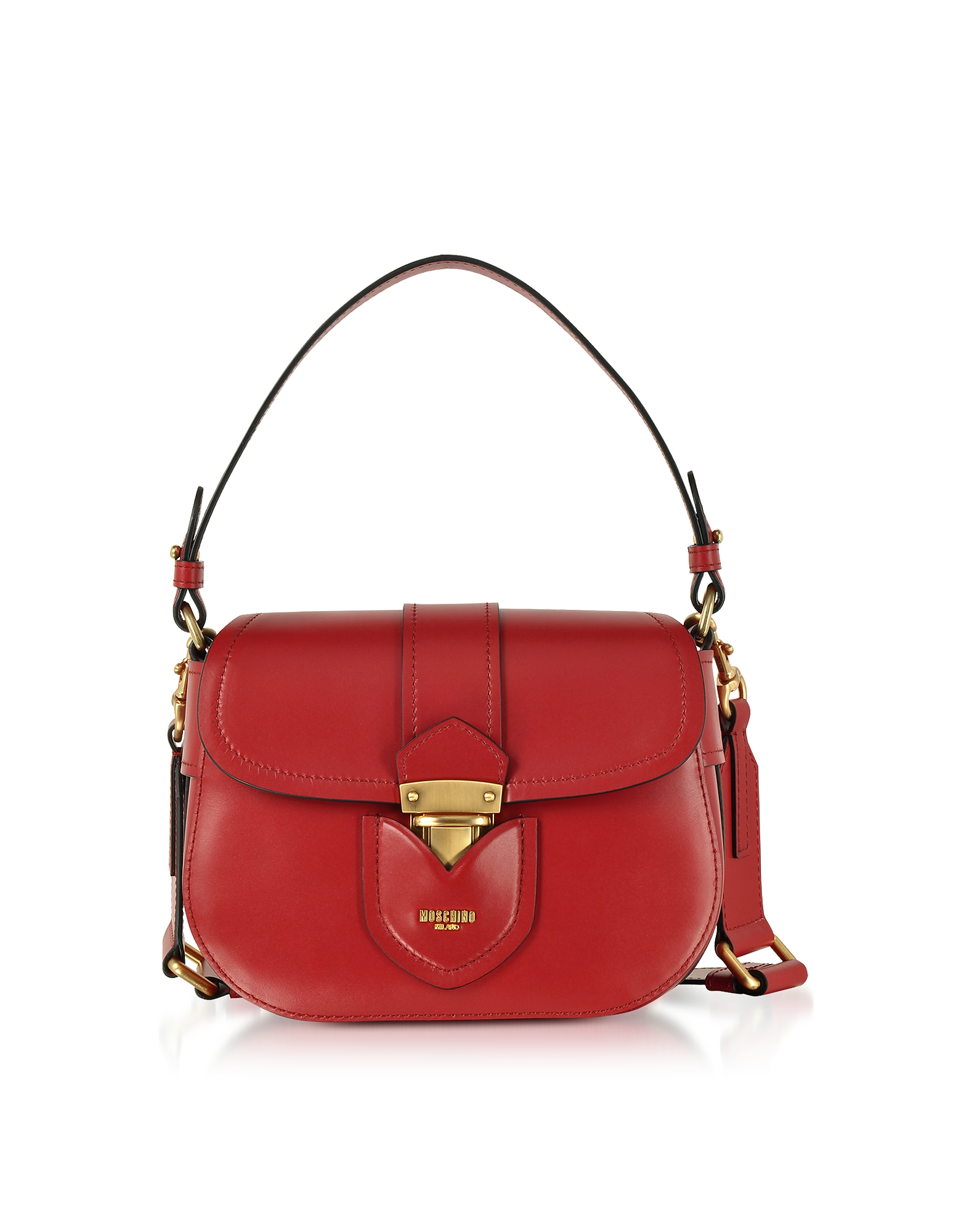 Moschino Handbags, Red Leather Crossbody Bag