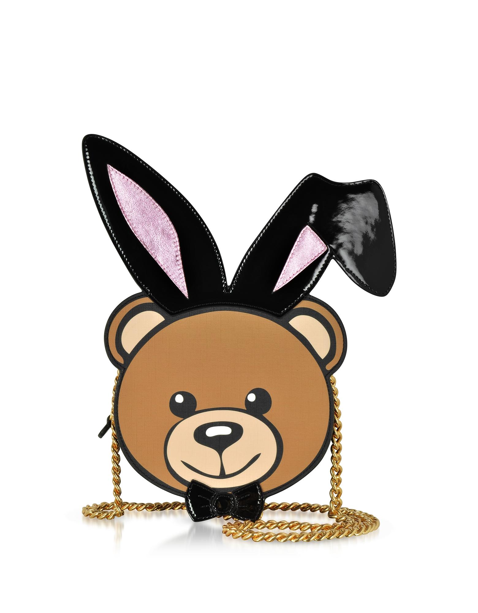 Moschino Handbags, Eco Leather Teddy Playboy Shoulder Bag