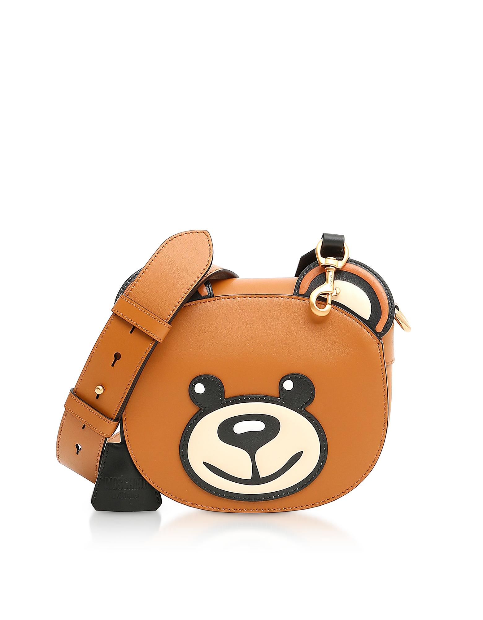 Moschino Handbags, Large Teddy Bear Leather Shoulder Bag