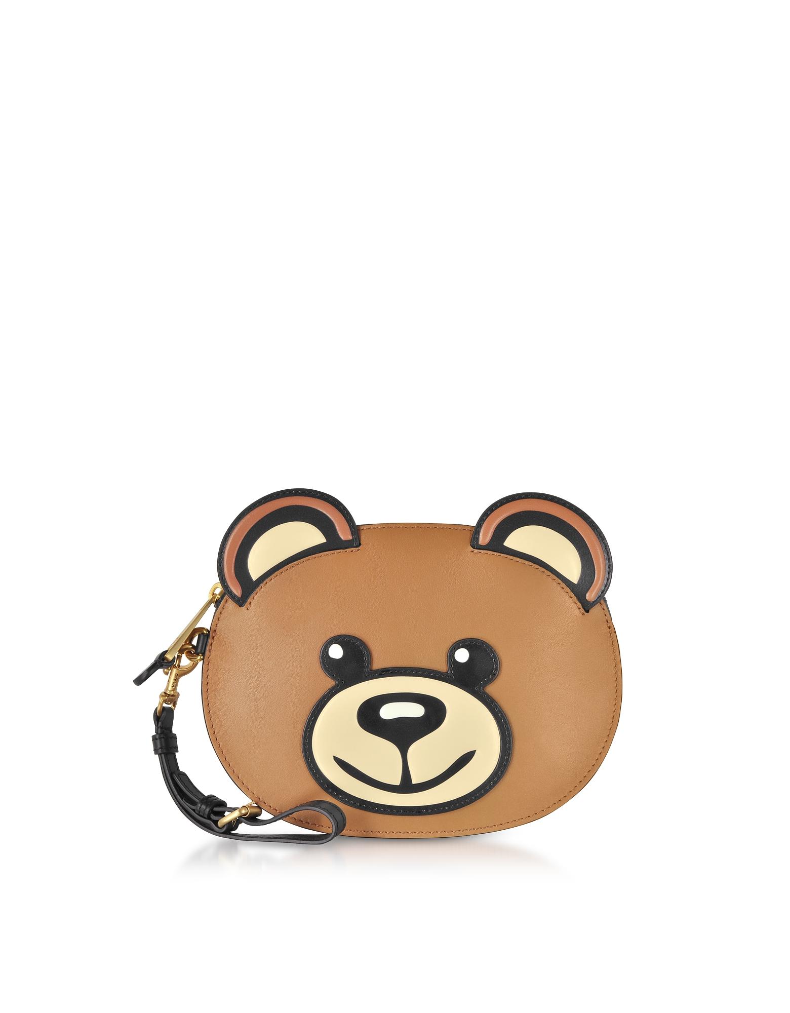 Teddy Bear Leather Pouch