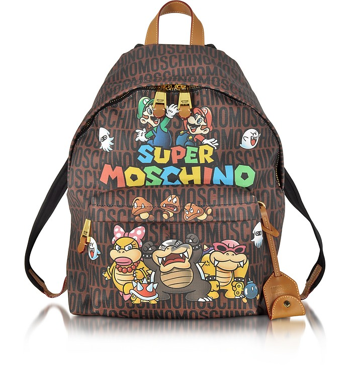 Super Mario Multicolor Printed Backpack - Moschino