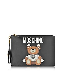 Teddy Bear Black Eco Leather Clutch - Moschino