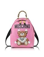Moschino Teddy Bear Zaino in Pelle Saffiano Rosa - moschino - it.forzieri.com