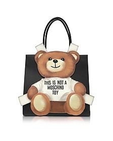 Teddy Bear Saffiano Leather Tote Bag - Moschino