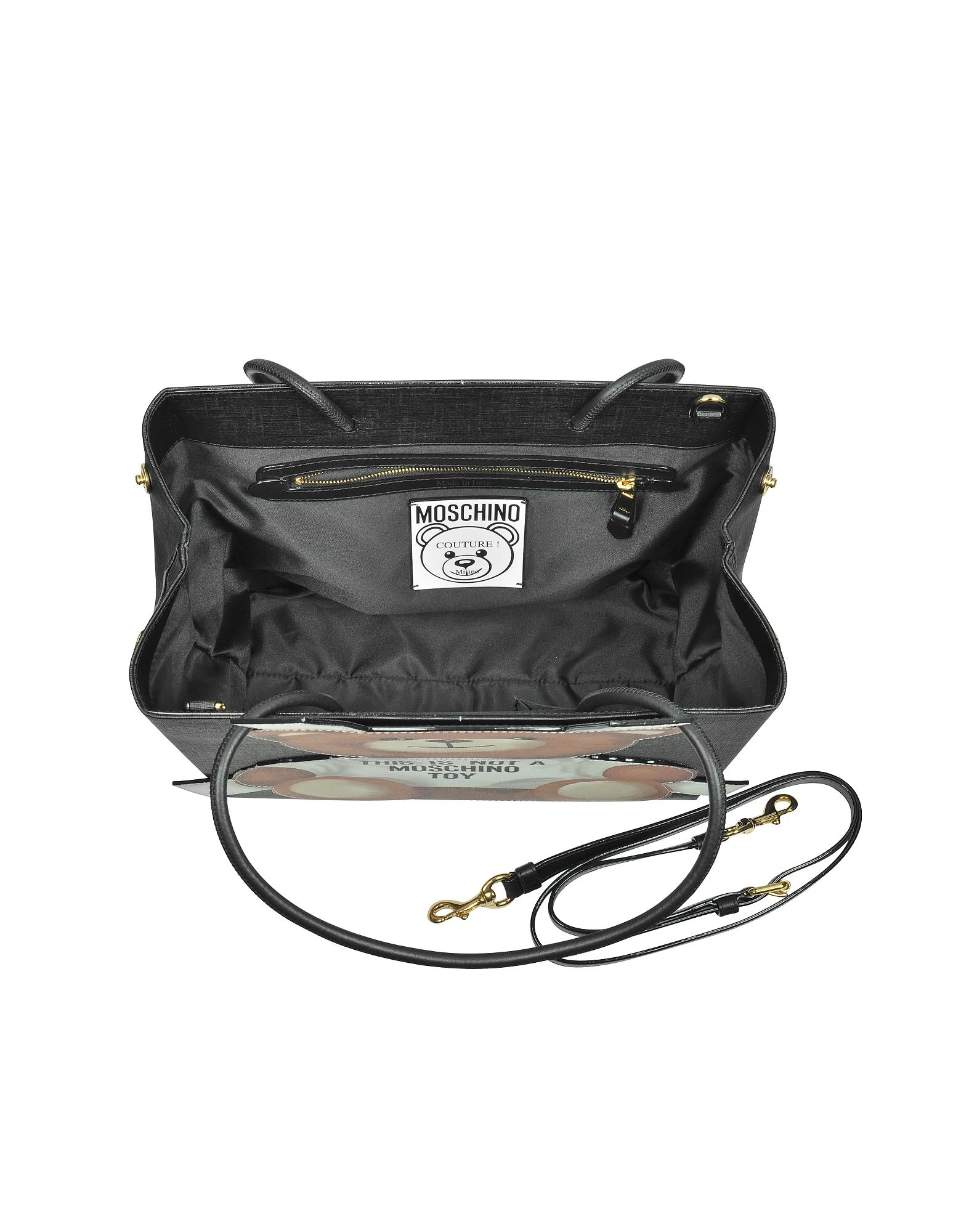 Teddy Bear Saffiano Leather Tote Bag от Forzieri.com INT