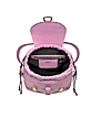Pink Leather Backpack w/Pins - Moschino
