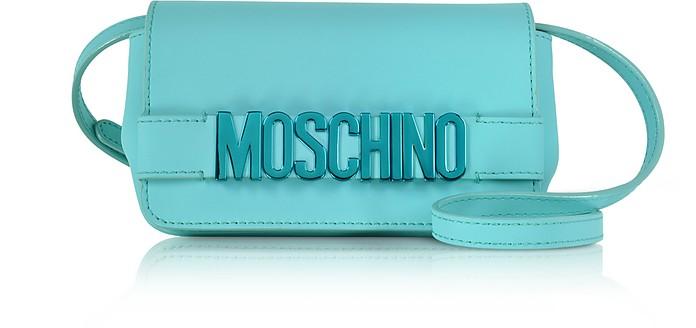 Signature Leather Mini Crossbody Bag - Moschino