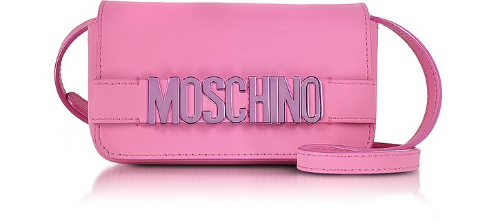 Signature Leather Mini Crossbody Bag - Moschino