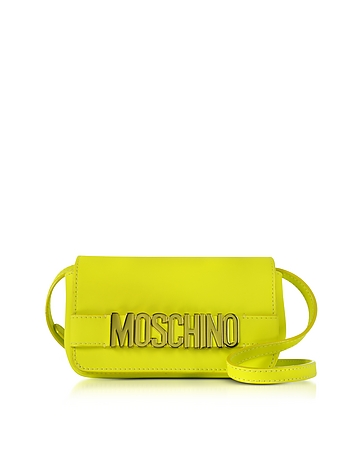 Moschino - Signature Leather Mini Crossbody Bag