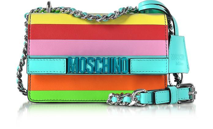 Rainbow Leather Small Crossbody - Moschino