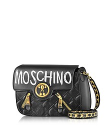Signature Print Leather Crossbody Bag - Moschino