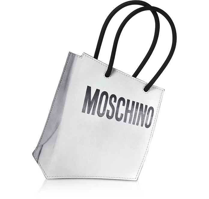 Signature Mini Leather Clutch - Moschino