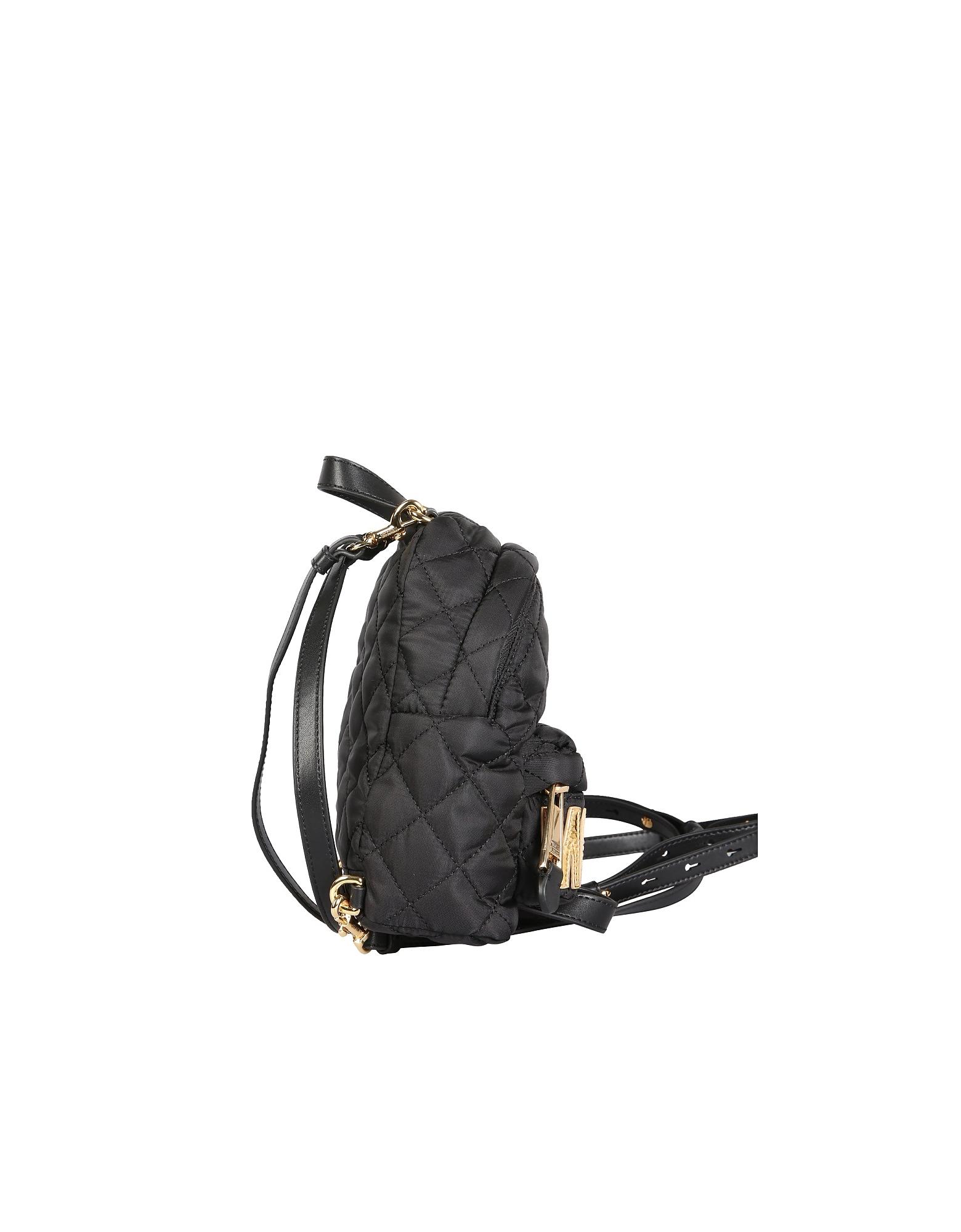 Moschino Designer Handbags, Backpack With Logo