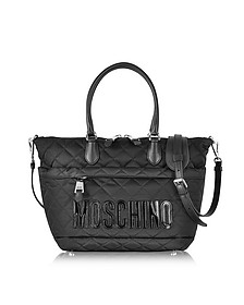 Black Nylon Quilted Tote - Moschino