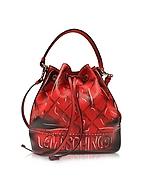 Moschino Secchiello in Vernice Rosso Shadow - moschino - it.forzieri.com