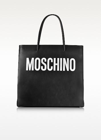 Moschino Черная Кожаная Сумка Tote