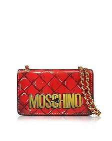 Red Leather Shoulder Bag - Moschino