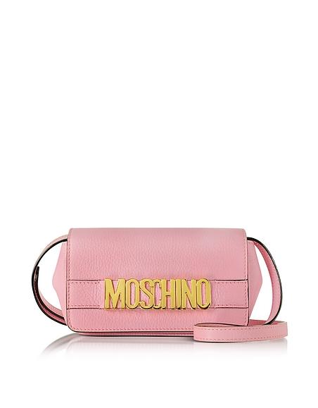 Foto Moschino Borsa con Tracolla in Pelle Rosa Candy con Logo Borse donna