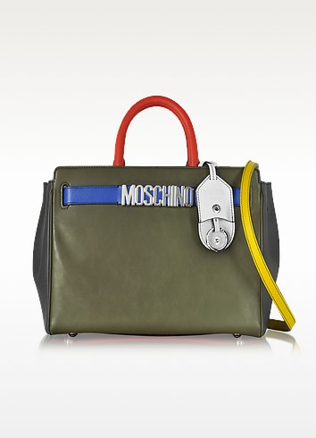 Multicolor Leather Tote - Moschino