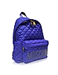Electric Blue Nylon Backpack - Moschino