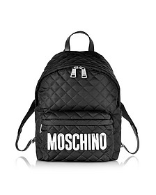 Black Nylon Backpack - Moschino