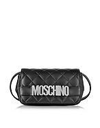 Moschino Borsa con Tracolla in Nappa Nera Matelassé - moschino - it.forzieri.com