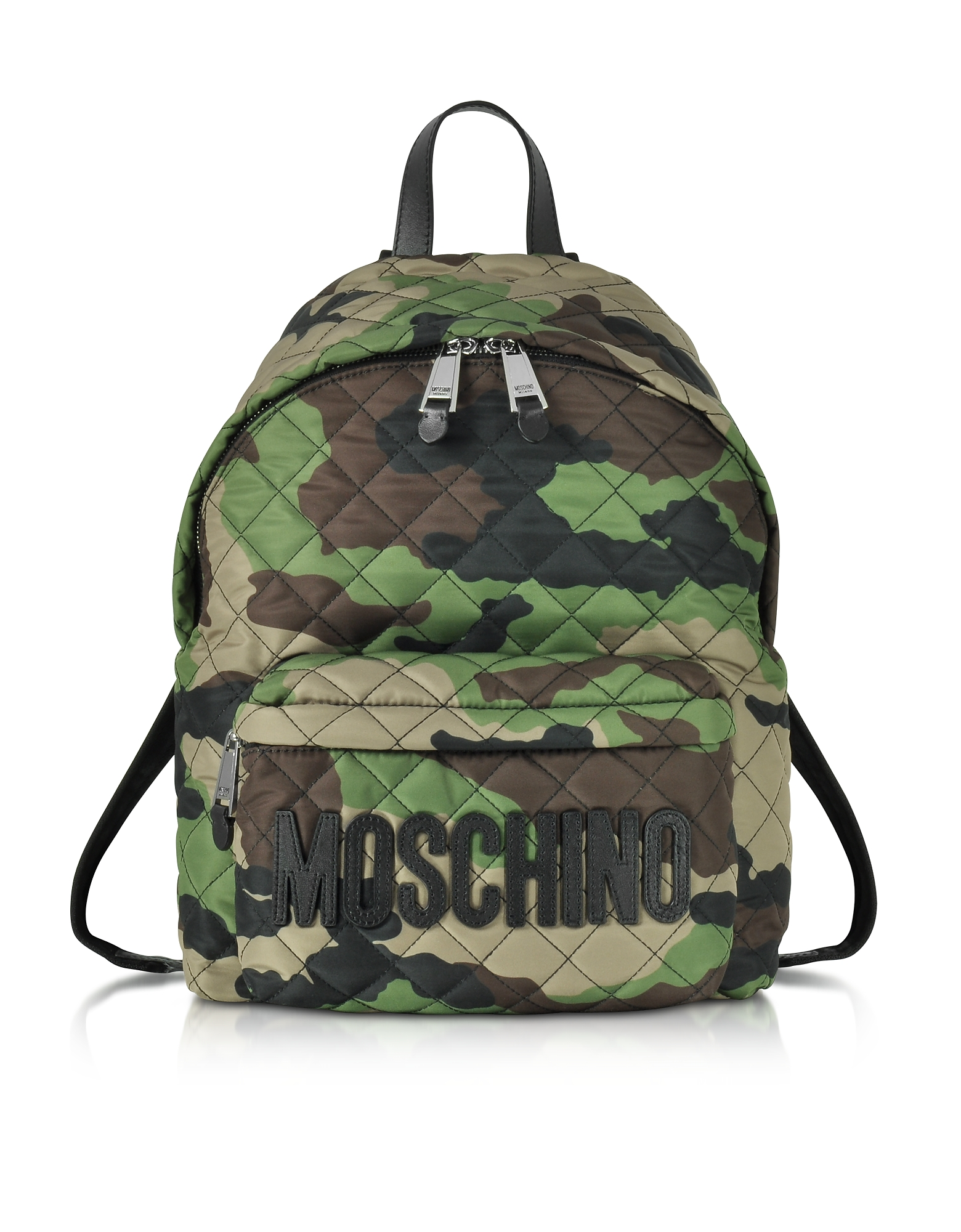 Moschino Camo Quilted Nylon Backpack w/Logo