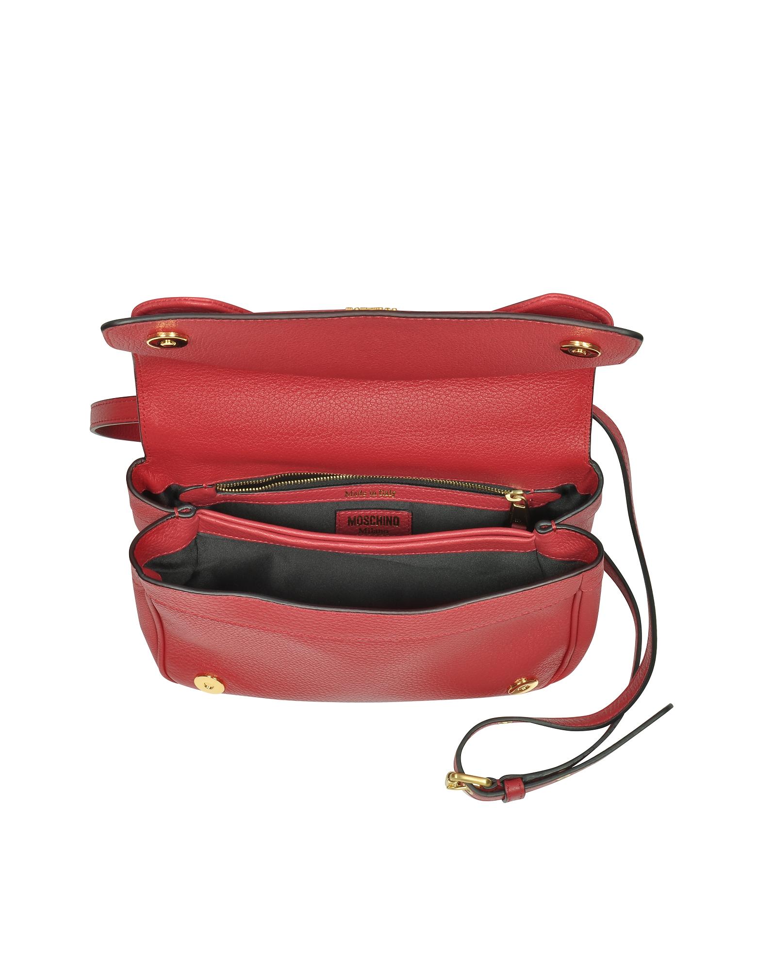 Фото Красная Кожаная Сумка на Плечо. Купить с доставкой