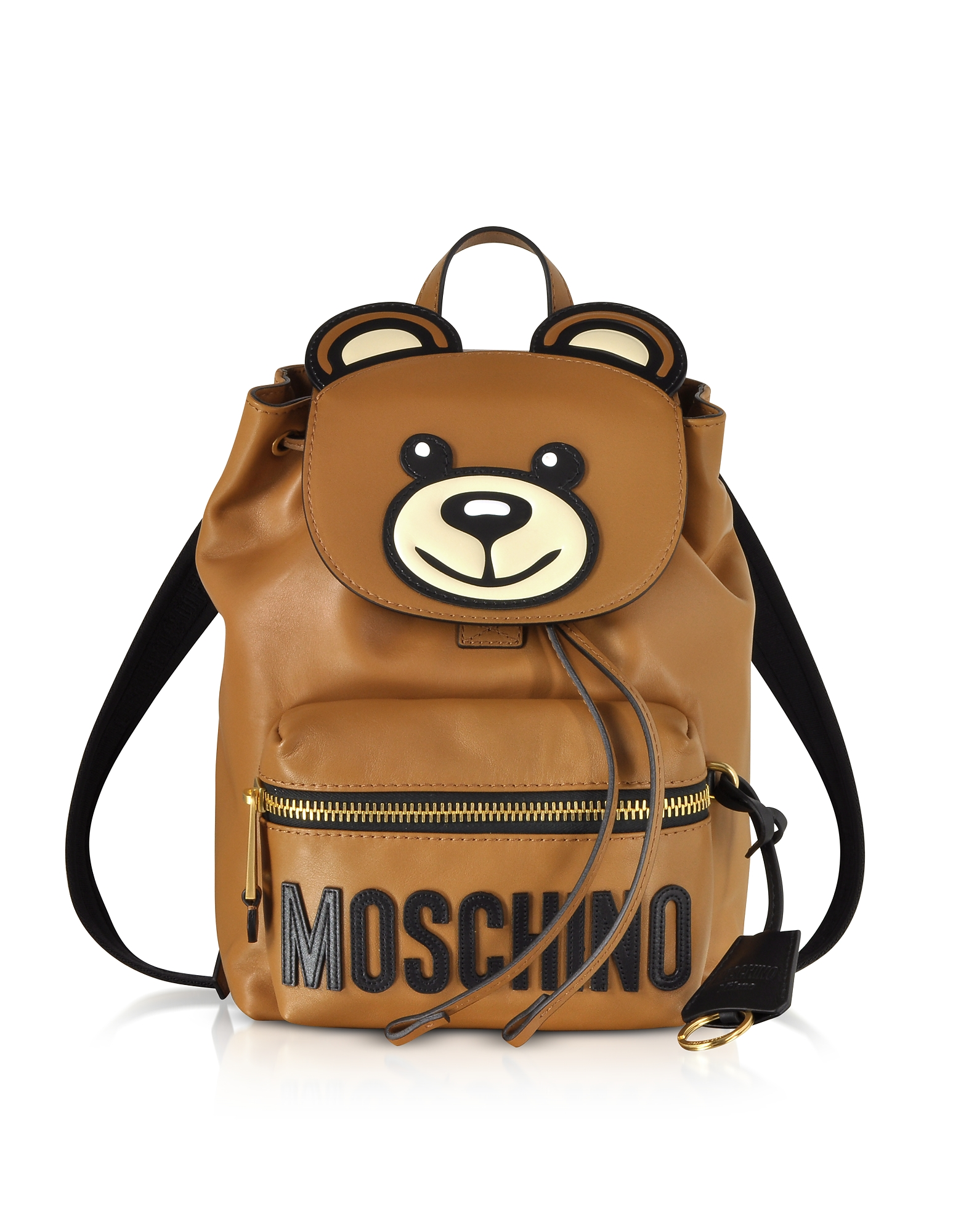 Brown Leather Teddy Bear Backpack