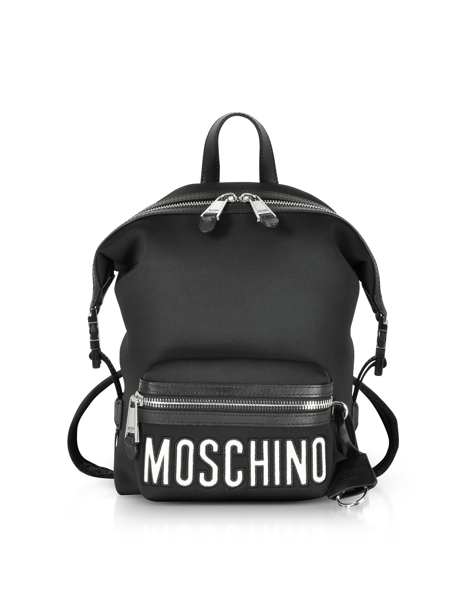 Black Neoprene Signature Backpack