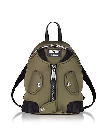Military Green Nylon Bomber Jacket Backpack xm130318-066-00
