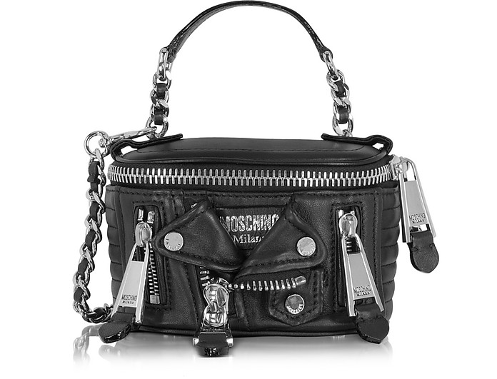 Black Nappa Shoulder Bag - Moschino