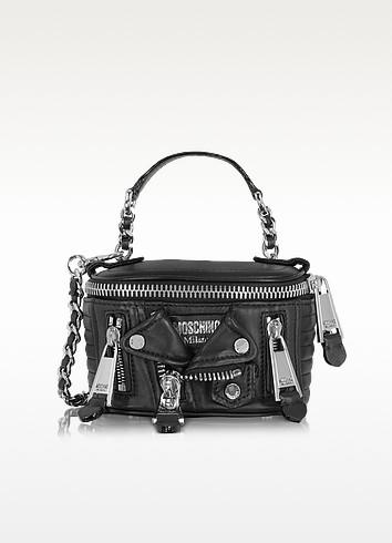 Black Nappa Shoulder Bag - Moschino
