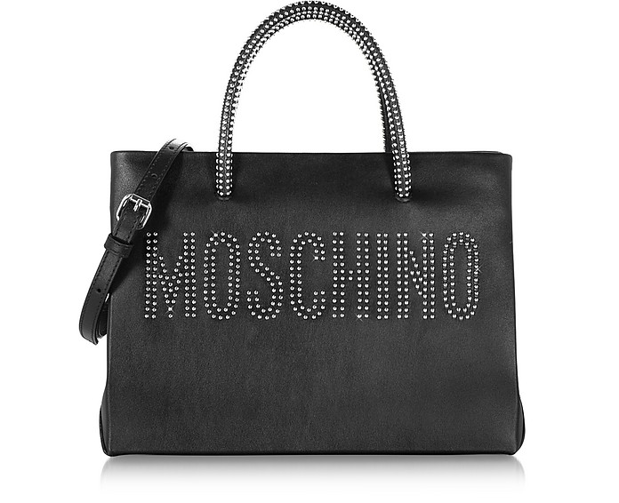 Black Leather Tote - Moschino