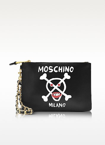Black Nappa Pouch - Moschino