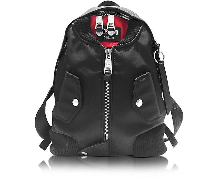 Black Fabric Backpack - Moschino