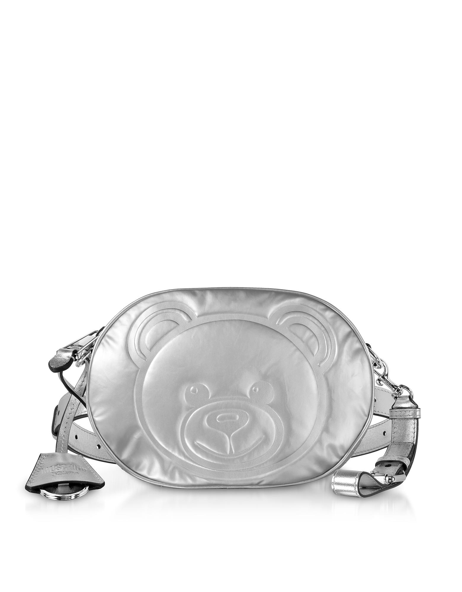 Moschino Handbags, Teddy Bear Laminated Leather Belt Bag