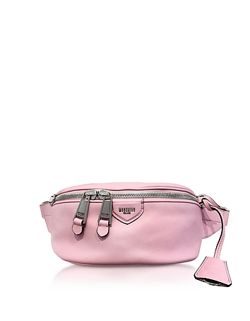 Moschino Candy Pink Leather Belt Bag