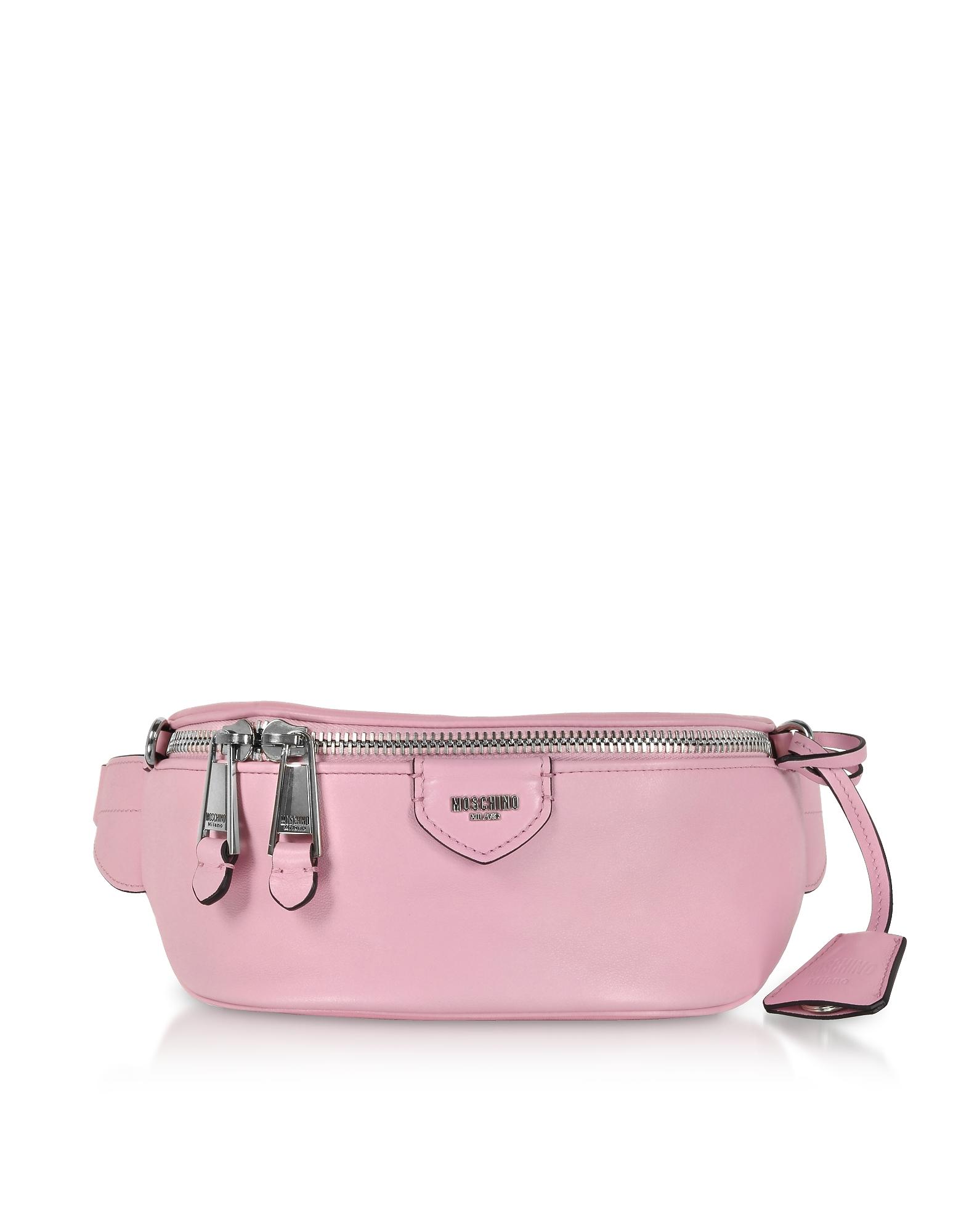 Moschino Handbags, Candy Pink Leather Belt Bag