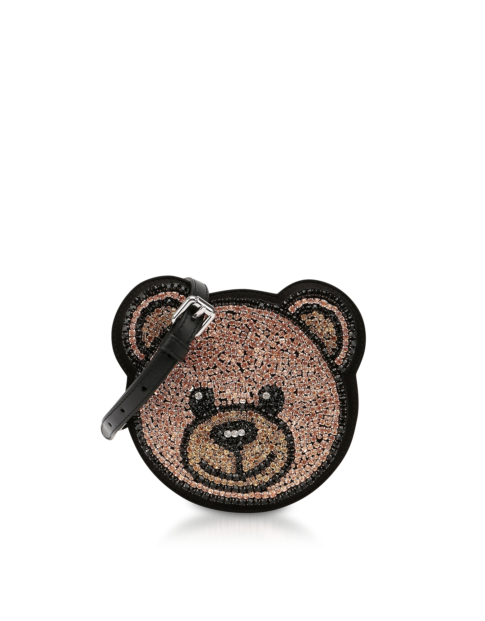 Moschino Handbags, Teddy Bear Crystals Round Crossbody Bag
