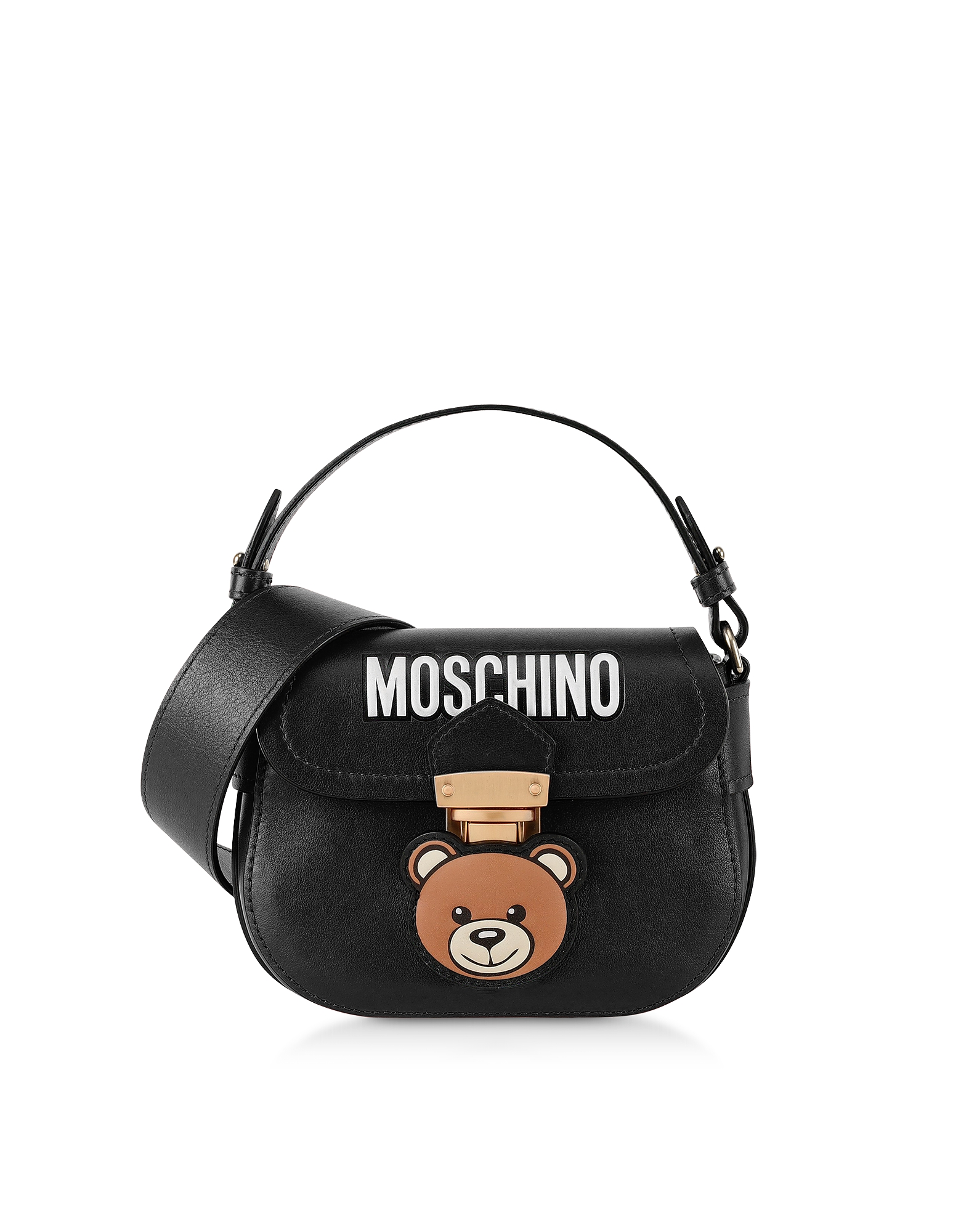 Moschino  Handbags Black Teddy Bear Top Handle Shoulder Bag