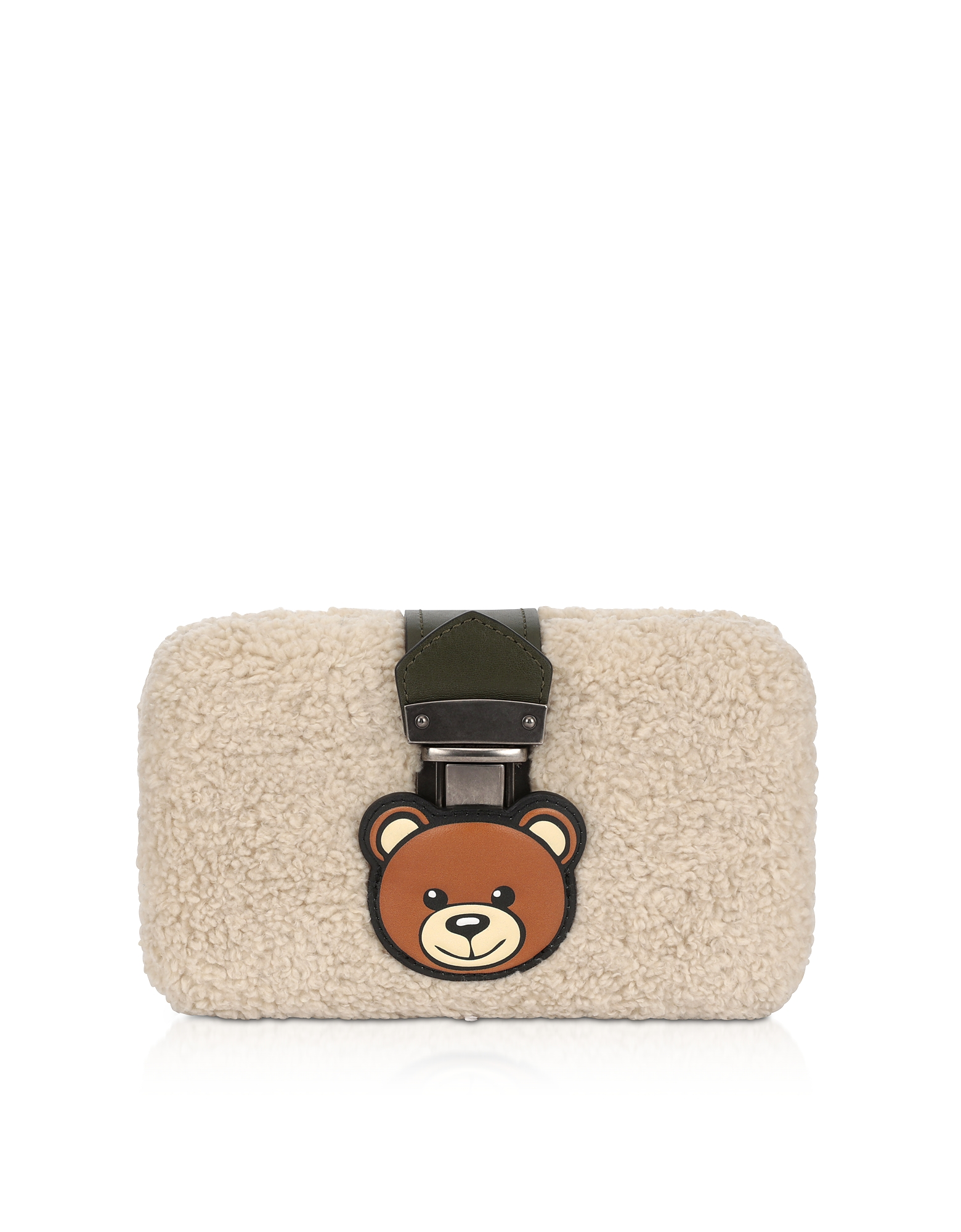UPC 820771815401 product image for Moschino Designer Handbags, Teddy Bear Eco-Shearling Clutch w/Chain Strap | upcitemdb.com
