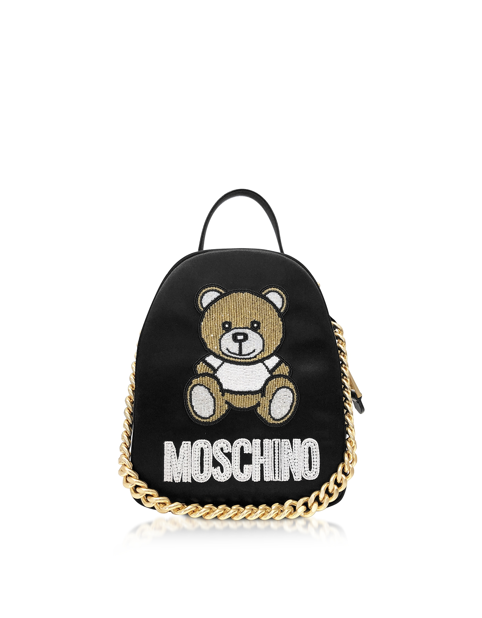 Black Teddy Bear Chain Backpack