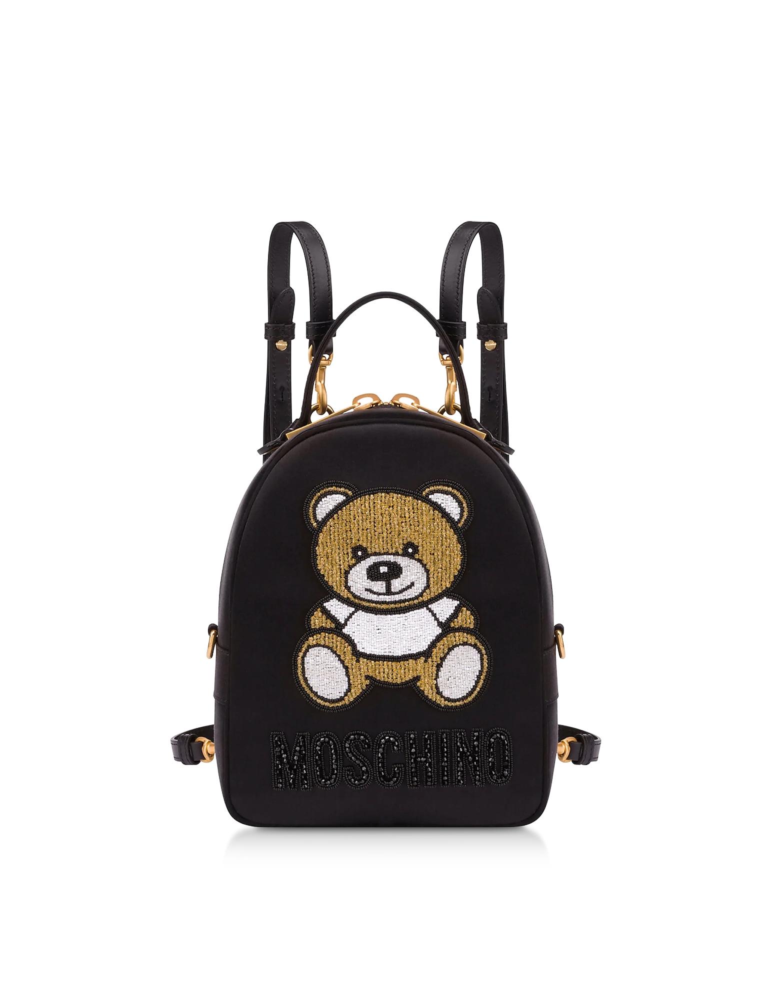 UPC 820771817306 product image for Moschino Designer Handbags, Black Teddy Bear Chain Backpack   upcitemdb.com